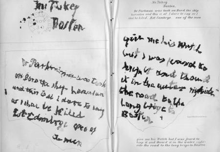 SOSH Mr. Turkey Boston Handwriting